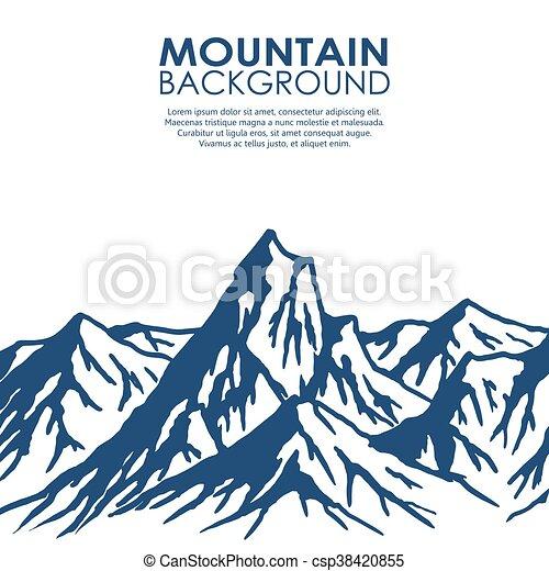 Rango de montaña aislado en el fondo blanco - csp38420855