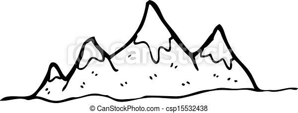 Alcance de montaña Cartoon - csp15532438