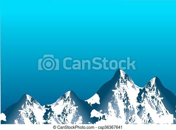 Alcance de montaña - csp36367641