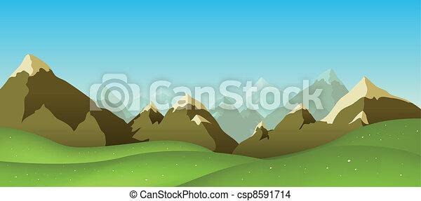 Alcance de montaña - csp8591714