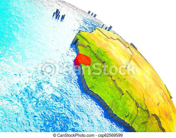 sierra, kaart, 3d, leone, aarde - csp62569599