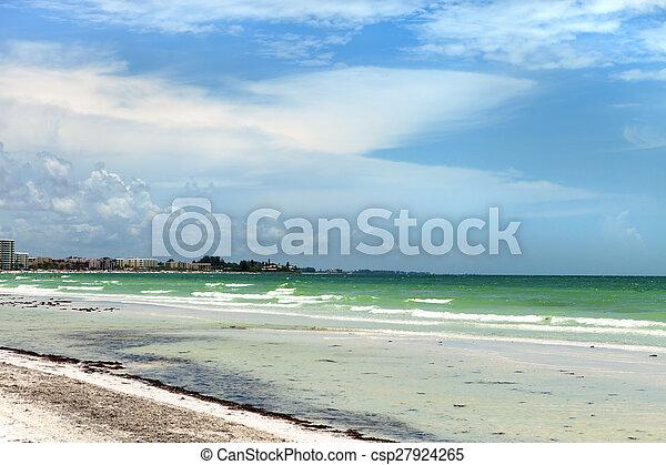 Siesta Key Beach in Sarasota Florida - csp27924265