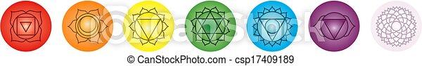Los siete chakras - csp17409189
