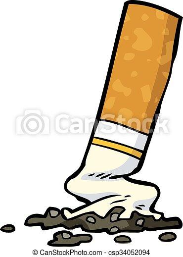 Sigaretta Cartone Animato Cicca Sigaretta Bianco Cartone