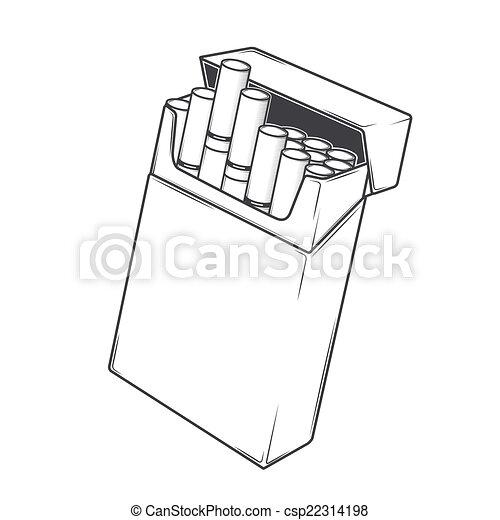 Sigarette Primo Piano Pacchetto Monocromatico Primo Piano