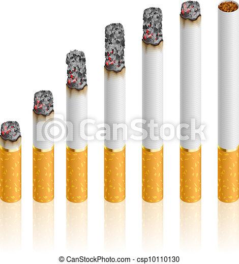 Sigarette Set Differente Set Burn Sigarette Durante