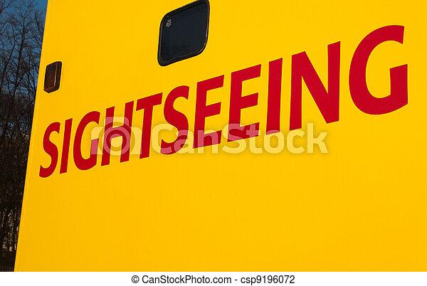 Sightseeing writing on Tourist Tour Bus - csp9196072