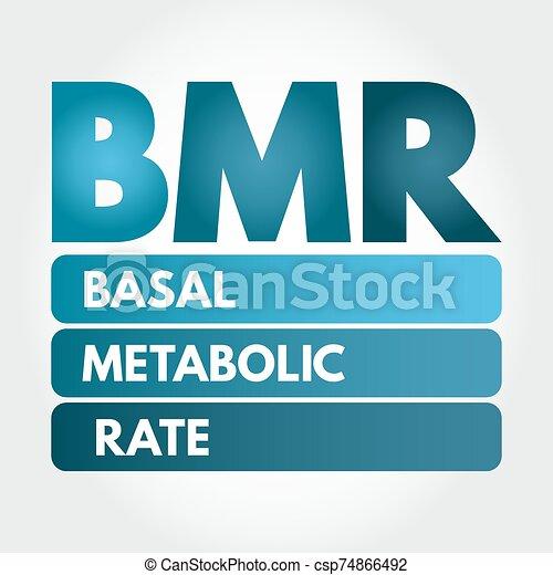 siglas, bmr, -, metabolic, tasa, basal - csp74866492