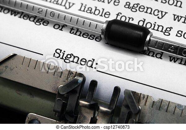 signé - csp12740873