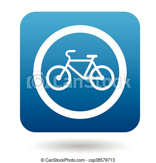 Sign bicycle path icon, simple style - csp38579713