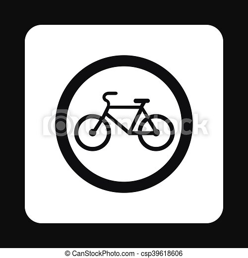 Sign bicycle path icon, simple style - csp39618606