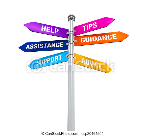 Sign Directions Support Help Tips - csp20464504