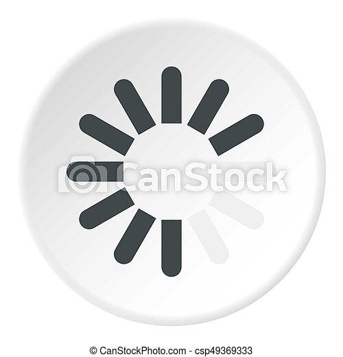Sign download icon circle - csp49369333