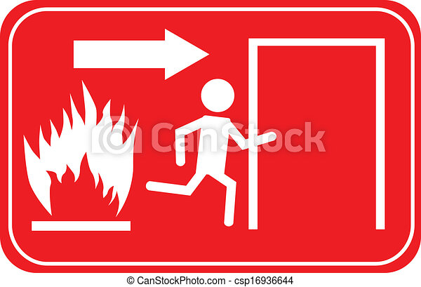 Sign Emergency Exit - csp16936644