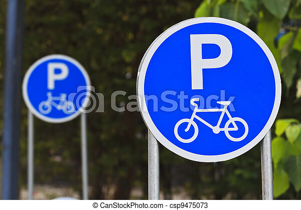 Sign for bicycle parking. - csp9475073