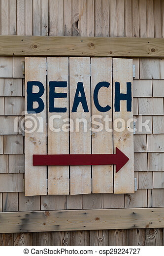 Sign for the Beach - csp29224727