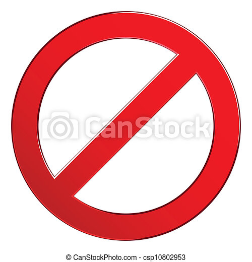 Sign forbidden - csp10802953