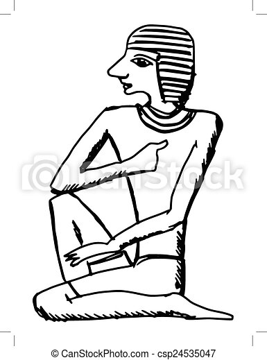 Sign From Ancient Egypt Sketch Cartoon Illustration Of Hieroglyph