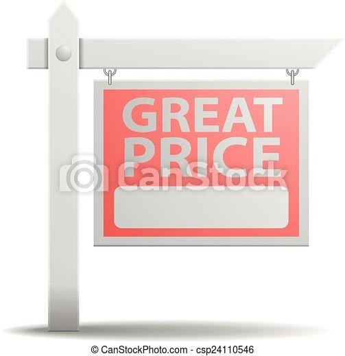 Sign Great Price - csp24110546