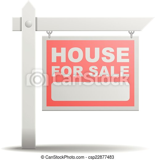 Sign House for Sale - csp22877483