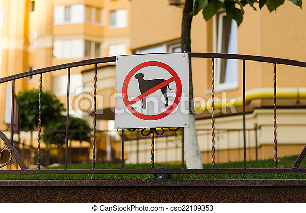 sign in a residential area - csp22109353