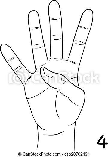 sign languagenumber 4