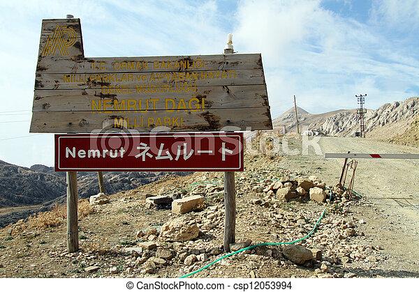 Sign Nemrud Dagi - csp12053994