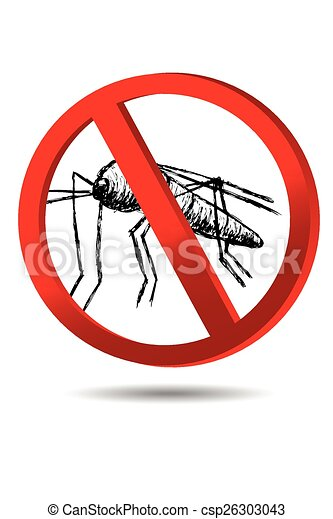 sign, No Mosquito  - csp26303043