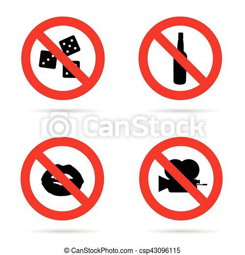 sign of camera bottle and lips design illustration - csp43096115