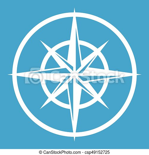 Sign Of Compass To Determine Cardinal Directions Icon White