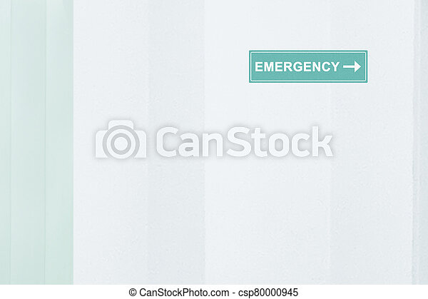 Sign of Emergency room - csp80000945