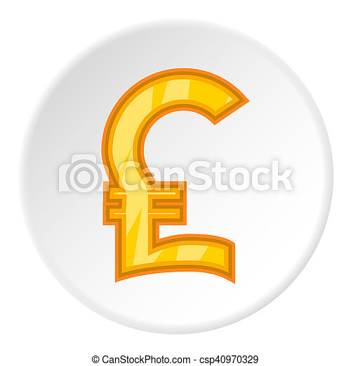 Sign Of Money Pound Sterling Icon Cartoon Style Sign Of Money