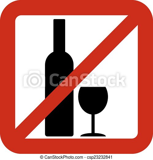 sign of prohibition of alcohol on white background vector eps rh canstockphoto com Glass Bottle Clip Art Glass Bottle Clip Art