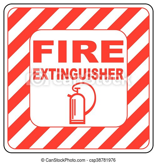 Sign Of The Fire Extinguisher In Vector Isolated Over White Fire