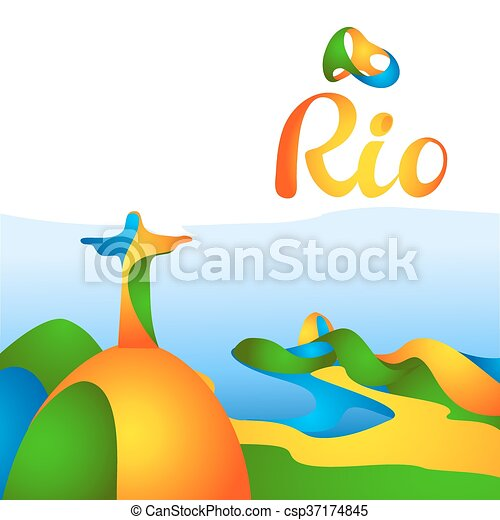 Sign Rio olympics games 2016 - csp37174845