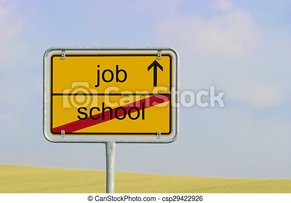 Sign school job - csp29422926