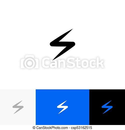 Sign Symbol Of Lightning Zipper Spark Vector Logo Illustration Icon With Blue Color