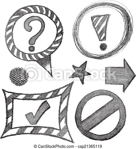 Sign symbol sketch set - csp21365119