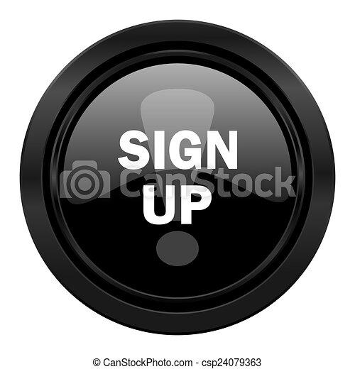 sign up black icon - csp24079363