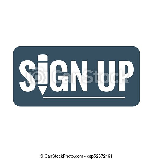 sign up button icon - csp52672491