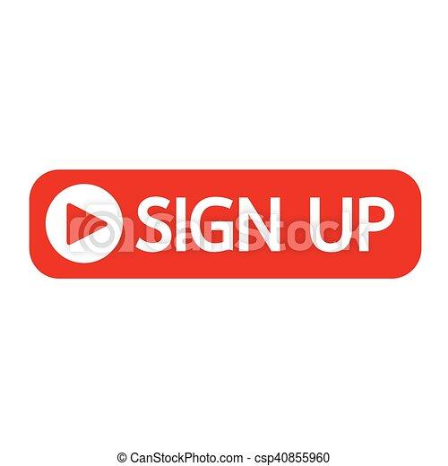 sign up button icon illustration design - csp40855960