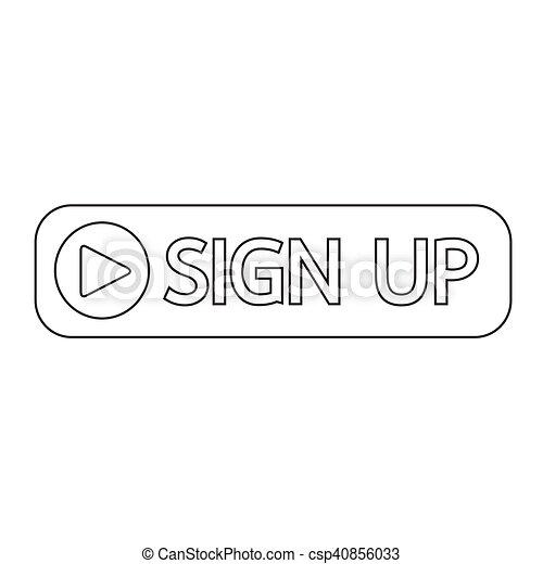 sign up button icon illustration design - csp40856033