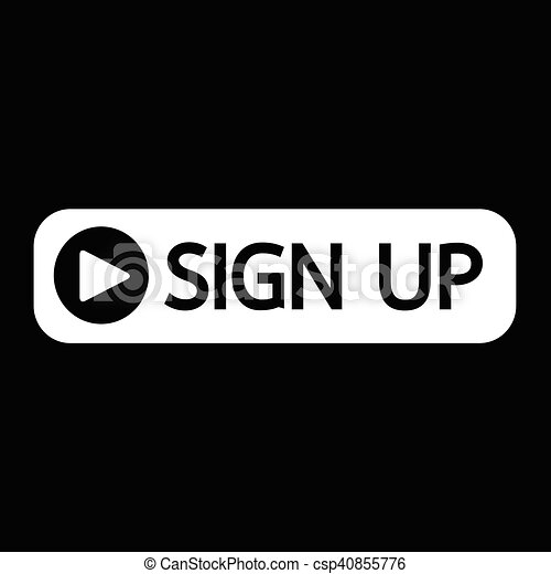 sign up button icon illustration design - csp40855776