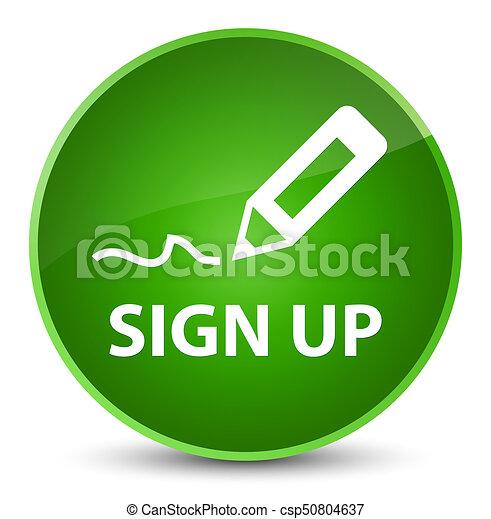 Sign up elegant green round button - csp50804637
