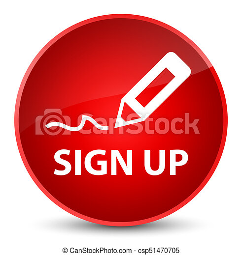 Sign up elegant red round button - csp51470705