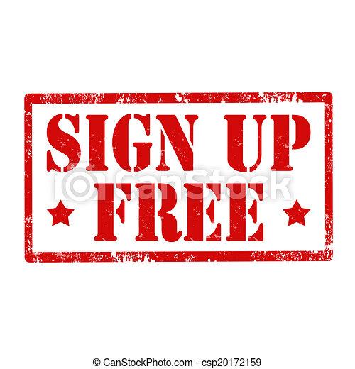 Sign Up Free-stamp - csp20172159