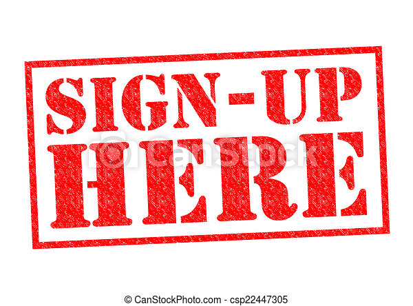 sign up here red rubber stamp over a white background rh canstockphoto com sign up today clipart sign up now clipart