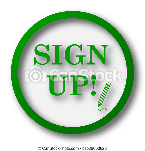 Sign up icon - csp29668623