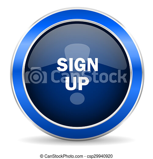 sign up icon - csp29940920