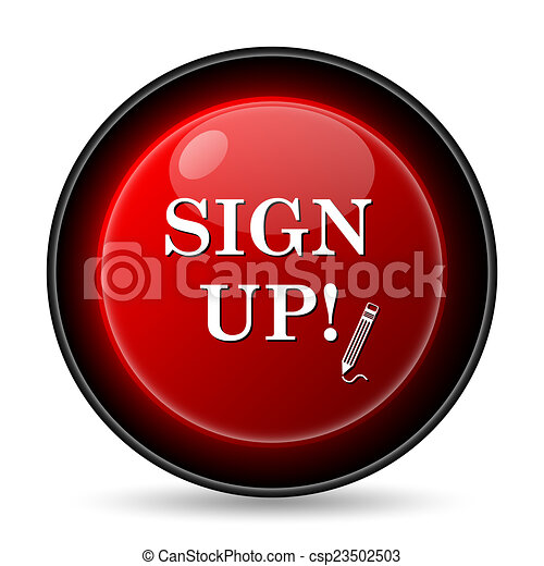 Sign up icon - csp23502503